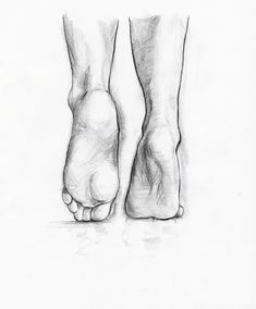 Image detail for -Pencil drawing of some feet.