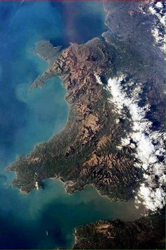 At what time can you see the international space station over Wales? - Astronaut Chris Hadfield took this picture of Wales when he was up in the International Space Station Wales Uk, North Wales, Chris Hadfield, Visit Wales, Brecon Beacons, Snowdonia, Seen, Cymru, All Nature