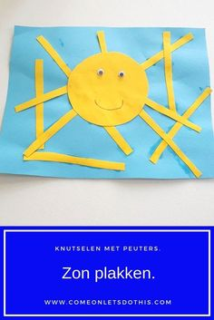 Crafting with toddlers and preschoolers. Paste the sun. Summer Crafts For Kids, Diy For Kids, Toddler Preschool, Toddler Crafts, Flamingo Painting, Valentines Day For Him, Busy Book, Painted Paper, Drops Design
