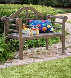 Lutyens Wood Garden Bench With Folding Design