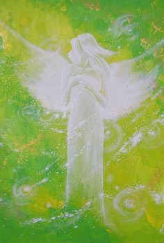 """Limited angel art photo """"I am always there for you"""", digital print, abstract contemporary angel painting, artwork, frame, guardian"""
