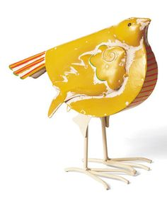 Take a look at this Yellow Fancy Bird Figurine by Foreside on #zulily today!