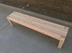New painted wood bench outdoor furniture ideas Metal Patio Furniture, Wood Furniture Living Room, Patio Furniture Cushions, Rustic Furniture, Small Outdoor Patios, Small Backyard Patio, Natural Wood Flooring, Wood Tile Floors, Old Wood Ladder