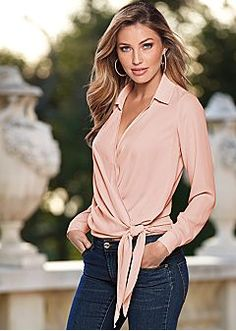 Women Blouses 2017 Fashion Solid Deep V-Neck Long Sleeve Ladies Tunic Jumper Top and Blouse Shirts Blusas Camisas Femininos Mode Outfits, Casual Outfits, Fashion Outfits, Fashion Ideas, Night Outfits, Womens Fashion, Mein Style, Tie Blouse, Sexy Blouse