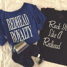 Redhead Apparel by How to be a Redhead #RockitlikeaRedhead #RedheadRoyalty
