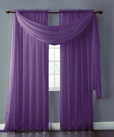 Save over 60% department store prices with Purple Sheer Window Curtains and Scarf. Buy both items to create a look, just like shown on the photo.