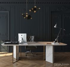 31 Ideas Black Parisian Interior Design Home Office. Interior design is now the field of television shows. It has also become the subject of radio shows. It can be overwhelming once you're faced with thi. Home Office Space, Home Office Decor, Office Ideas, Small Office, Office Table, Office Furniture, Furniture Design, Furniture Nyc, Study Office