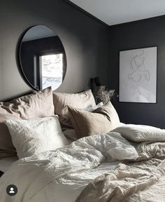 Bedroom Layouts, Room Ideas Bedroom, Bedroom Styles, Bedroom Inspo, Home Bedroom, Bedroom Decor, Charcoal Bedroom, House Rooms, New Room