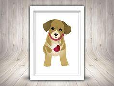Cute dog Clipart Puppy Clipart Printable Cute puppy Cute Puppies, Cute Dogs, Puppy Clipart, Cute Illustration, Scooby Doo, Digital Prints, Clip Art, Printables, Illustrations