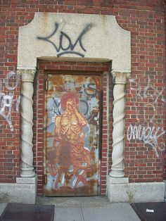 Graffiti Door, Brooklyn by Si1very, via Flickr