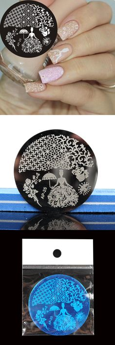 [Visit to Buy] Pandox Rose Queen Theme Nail Stamping Plates Nail Art Stamp Template Image Plate  #Advertisement