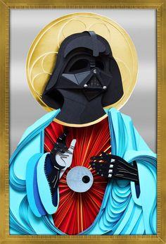Star Wars religious Geek Art created by Lobulo Design called Holy Darth Vader Darth Vader, Star Wars Design, Jesus Art, Jesus Christ, Paper Illustration, Cartoon Illustrations, Objet D'art, Geek Art, Art Design