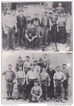 GROUPES DE BOUCHERS - LOT DE 2 - PHOTOS 17.5 X 12.5 CM