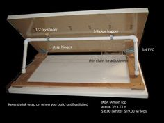 diy drafting table using pvc pipe