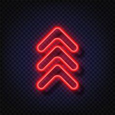 neon freepik arrow glowing swipe sign