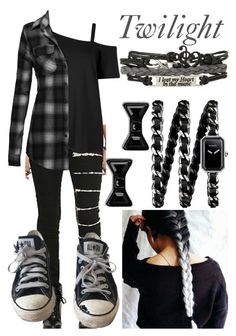 """Twilight; the Warrior"" by mikupayneluvs1d ❤ liked on Polyvore featuring Tripp, Converse, Chanel, Marc by Marc Jacobs, women's clothing, women, female, woman, misses and juniors"