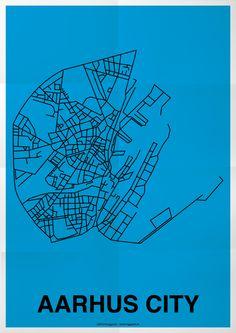 Aarhus City Poster  Made by Klinggaard