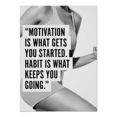 Motivational Female Fitness Gym Poster - I need some new habits in 2015.  :)