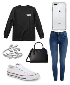 """Another day at school"" by anne-reeves123 on Polyvore featuring Vans, Converse, Kate Spade and Belk Silverworks"