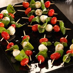 Caprese Salad Kabobs Recipe from Taste of Home -- shared by Christine Mitchell of Glendora, California