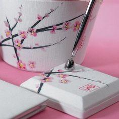 Le porte-stylo fleur de cerisier