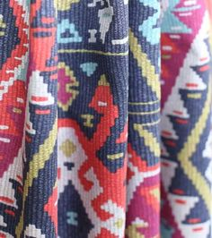 Just in. Vintage Kilim inspired fabric available by the yard at @tonicliving www.tonicliving.com