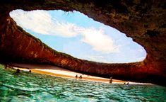 Hidden beach on Marieta Islands,Mexico Beautiful Places In The World, Oh The Places You'll Go, In This World, Places To Visit, Beautiful Scenery, Best Swimming, Swimming Holes, Geography Of Mexico, Marieta Islands