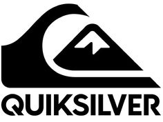 Quicksilver Surf Logo Surf Stickers, Cool Stickers, Bikini Surf, Clothing Brand Logos, Surf Logo, T Shirt Design Template, Wall Drawing, Black White Art, Silver Logo