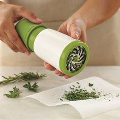 Microplane Herb Mill from Williams-Sonoma. I need this asap. I use fresh herbs all the time!