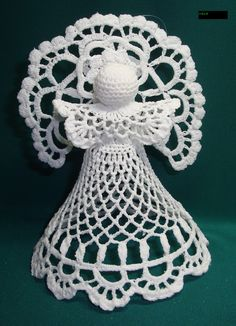Crochet Angel Pattern, Crochet Angels, Crochet Doily Patterns, Crochet Doilies, Small Sewing Projects, Christmas Decorations, Christmas Ornaments, Filet Crochet, Christmas Angels