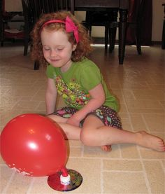 Hovercrafts from CD's and balloons.