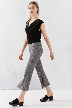 Silence + Noise Camille Crop Flare Pant