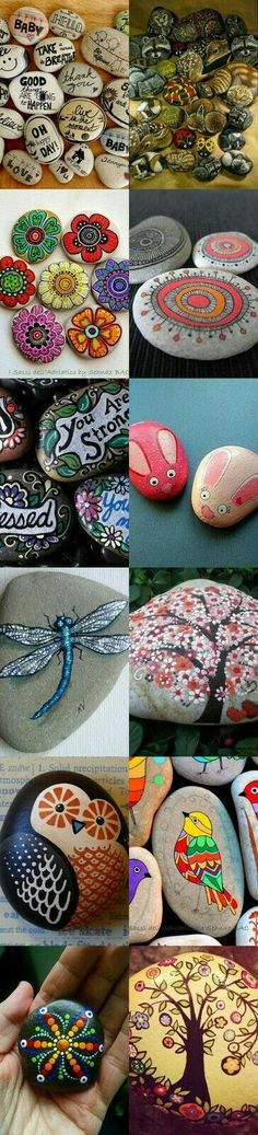 Leave rocks that are painted all around for kids to have.. make someone's day
