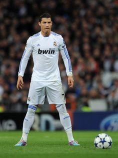 Cristiano Ronaldo sets for on of his lethal free kicks