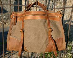 Große Canvas Wochenend Tasche Weekender von NORDLICHTBags  Taschen/Rucksäcke aus Segeltuch & Leder  auf DaWanda.com