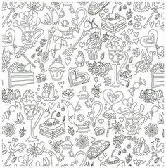Sweet-Sapporo-Coloring-Book-Adult-Anti-Stress-Sweet-Food-Pancake ...