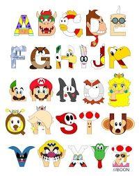 Alfabeto a lo Super Mario Bros.