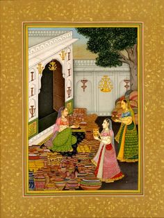 """The Potter's Shop"" Mughal painting"