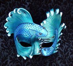 My Mardi Gras Mask.Aequeor Tranquillium Mask by *merimask Masquerade Party, Masquerade Masks, Masquerade Centerpieces, Balloon Centerpieces, Wedding Centerpieces, Leather Mask, Cool Masks, Carnival Masks, Venetian Masks