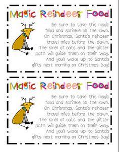 magic reindeer food oats and glitter-make xmas eve