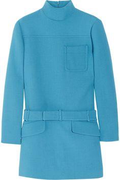 Miu Miu|Belted wool-crepe tunic|NET-A-PORTER.COM
