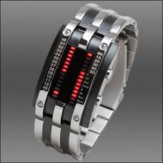 The binary LED watch is a daily use, waterproof wrist watch. Red and yellow LED digital watch. Watch property Size: x (band). Unusual Watches, Amazing Watches, Cool Watches, Watches For Men, Dream Watches, London Watch, Apple Watch Fashion, Gadgets, Timex Watches