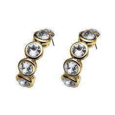 Σκουλαρίκια από ρόδιο και πέτρες Swarovski! #swarovski Stones And Crystals, Bracelet Watch, Gold, Cufflinks, Stud Earrings, Bracelets, Accessories, Jewelry, Material