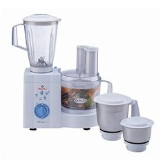 Technical Specifications Brand Bajaj Type Food Processor Model Masterchef 3.0 Colour White Capacity 0.3L Stainless steel chutney jar, 1.5L unbreakable polycarbonate liquidising jar with stainless steel blade, 1L stainless steel grinding jar with multifunctional stainless steel blade Warranty 2 years warranty on the product, 5 years warranty on the motor Speed Control 3 speed control Pulse function Yes Safety features Motor overload protector Wattage 600 Watts .