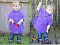 Knitting Pattern - Cable Fantasy Poncho (Toddler and Child sizes) par ViTalinaCraft sur Etsy https://www.etsy.com/ca-fr/listing/255977635/knitting-pattern-cable-fantasy-poncho