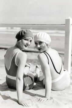 Vintage beach hats