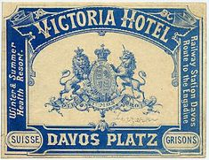 Vintage Swiss luggage label of Victoria Hotel from the collection of Joao-Manuel Mimoso