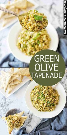 Easy Green Olive Tapenade with simple ingredients that makes the perfect appetizer! Recipe with step by step instructions and photos. Appetizer Recipes, Dinner Recipes, Olive Recipes, Italian Recipes, Most Popular Recipes, Amazing Recipes, Appetisers, Pinterest Recipes, Healthy Recipes