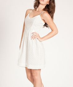 Look what I found on #zulily! Amour Vert White Jinny Dress - Women by Amour Vert #zulilyfinds
