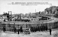 Construction of the foundations of Sacré-Cœur, Montmartre. Montmartre Paris, Paris France, France Europe, Pray For Paris, I Love Paris, Old Paris, Vintage Paris, Old Pictures, Old Photos